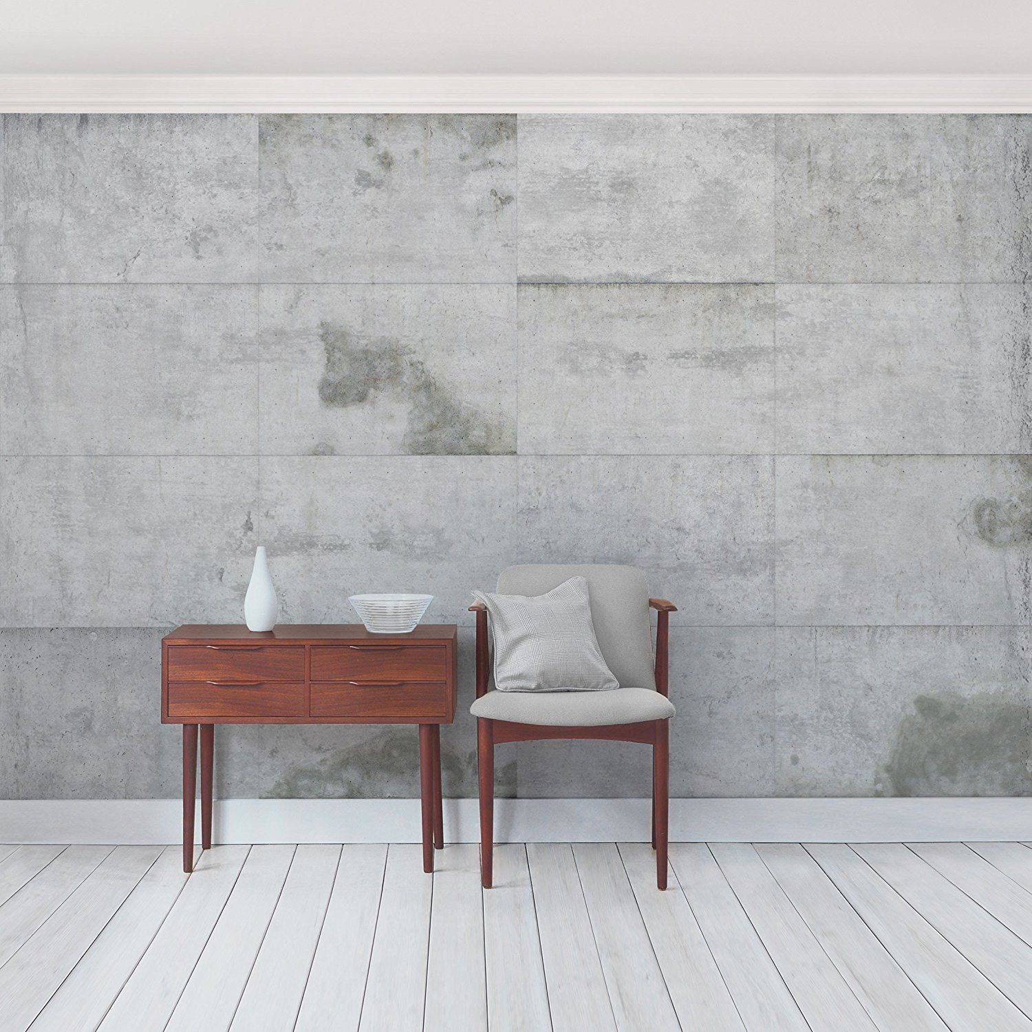 Amazoncom Non Woven Wallpaper Premium  Concrete Wallpaper  Large Concrete