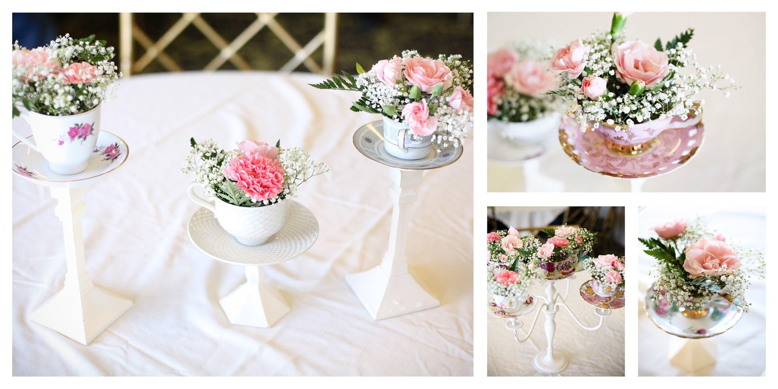Sidney\'s 1st birthday. Tea cup centerpieces   Bridal Shower ...