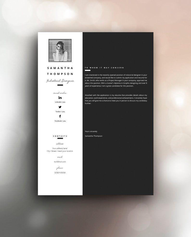 Resume Template 3 Page Cv Template Cover Letter Instant Etsy Mise En Page Cv Branding Mise En Page