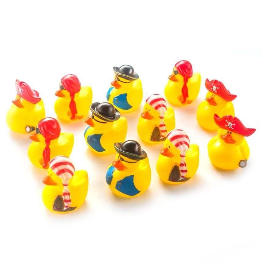 Fun Central AZ980 Mini Pirate Rubber Duck Kids Toddlers Fun Bath ...