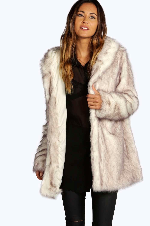 Boutique Lois Hooded Faux Fur Coat | Fur coat and Fur