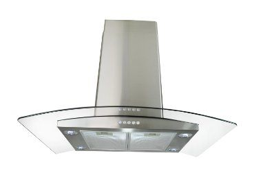 Amazon Com 389 99 Shipping Stainless Steel Island Range Hood Tempered Glass