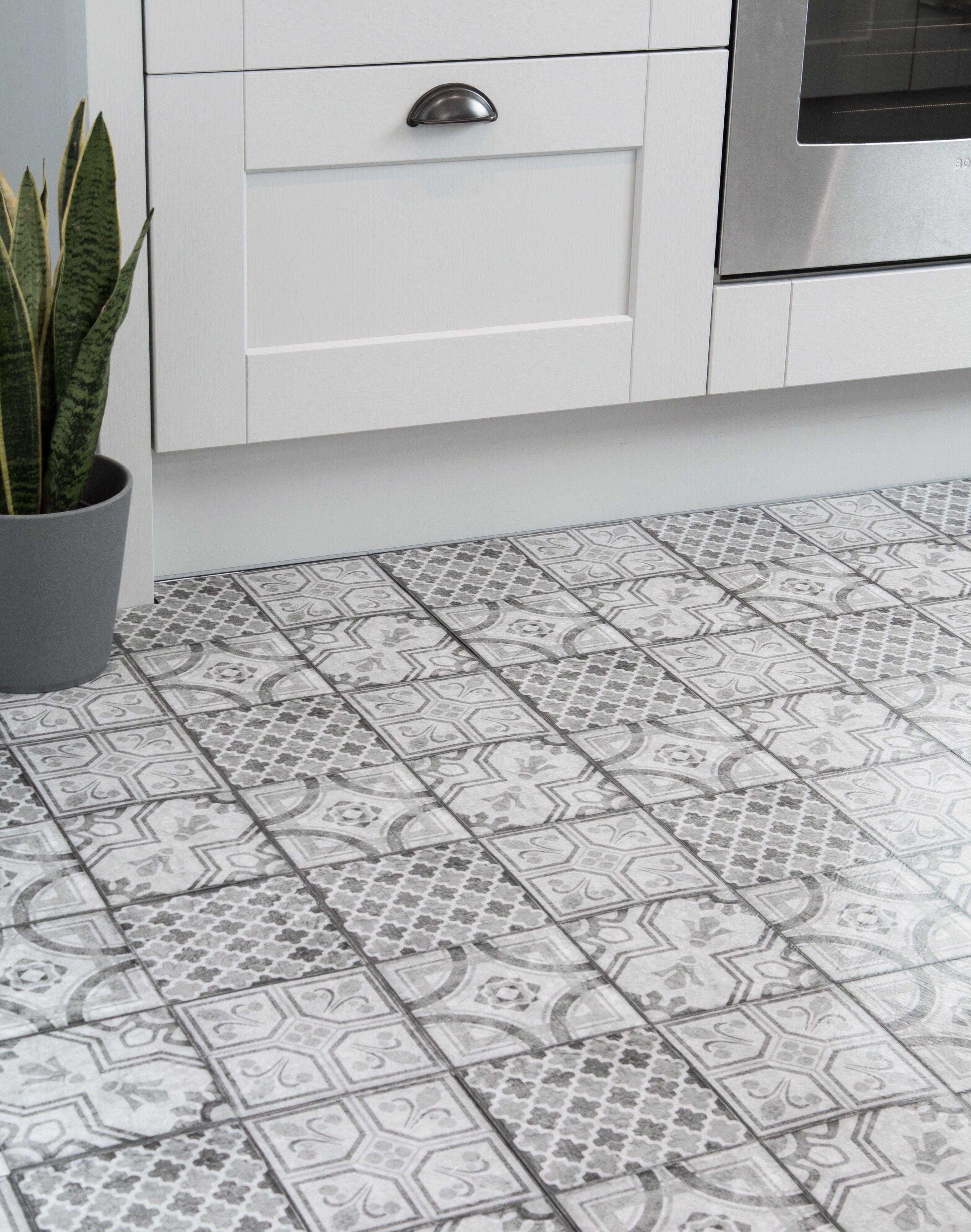 30 5cm X 30 5cm D C Floor Moroccan Grey Self Adhesive Vinyl Floor Tiles 274 5043 Vinyl Flooring Tile Floor Flooring