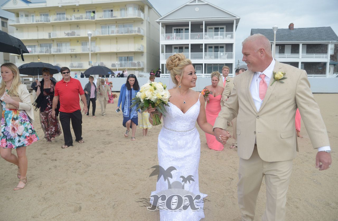Rain Brings Good Luck To Bride And Groom After Ocean City Maryland Beach Wedding By Rox