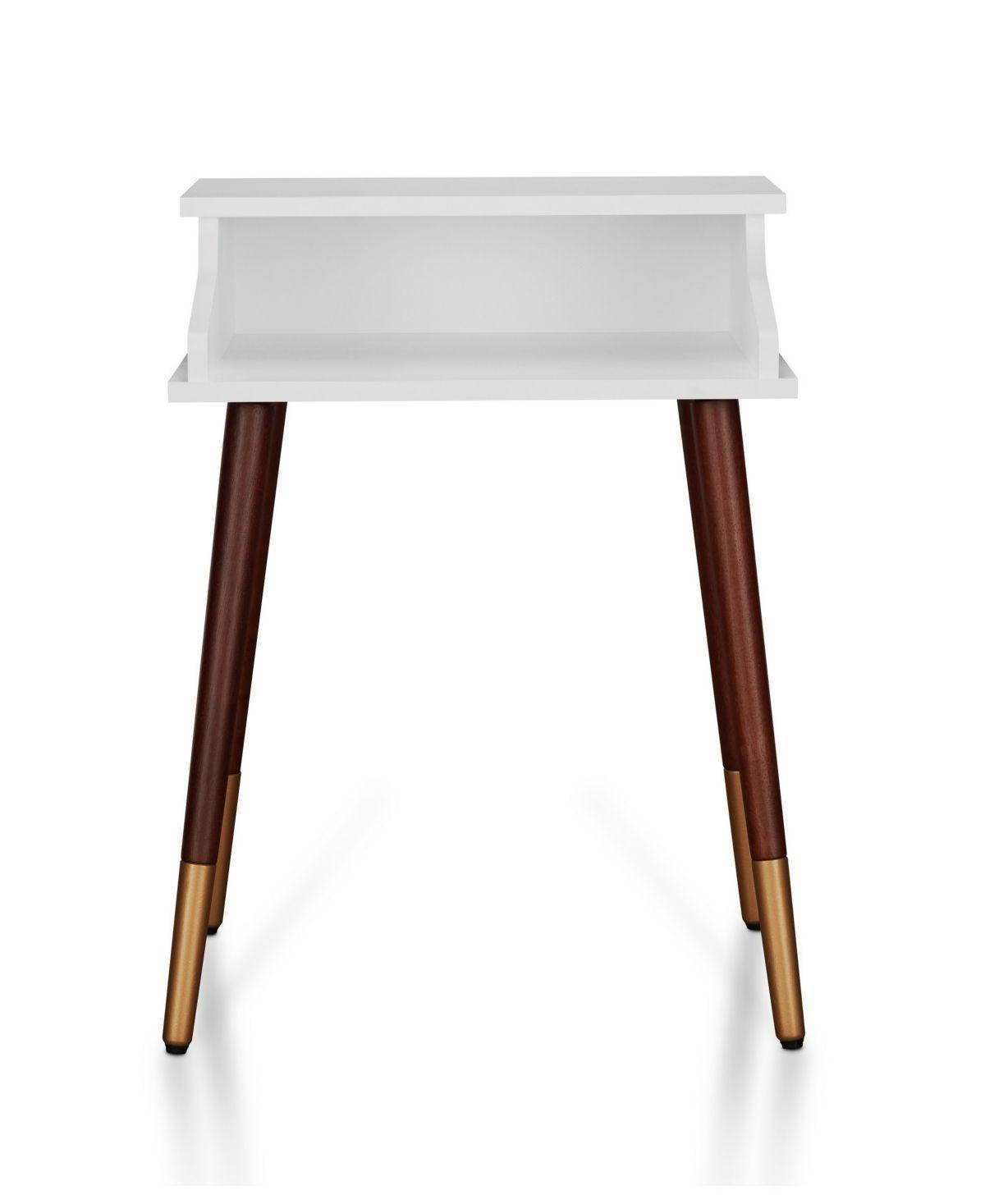 Furniture of America Naldo Mid Century Modern End Table
