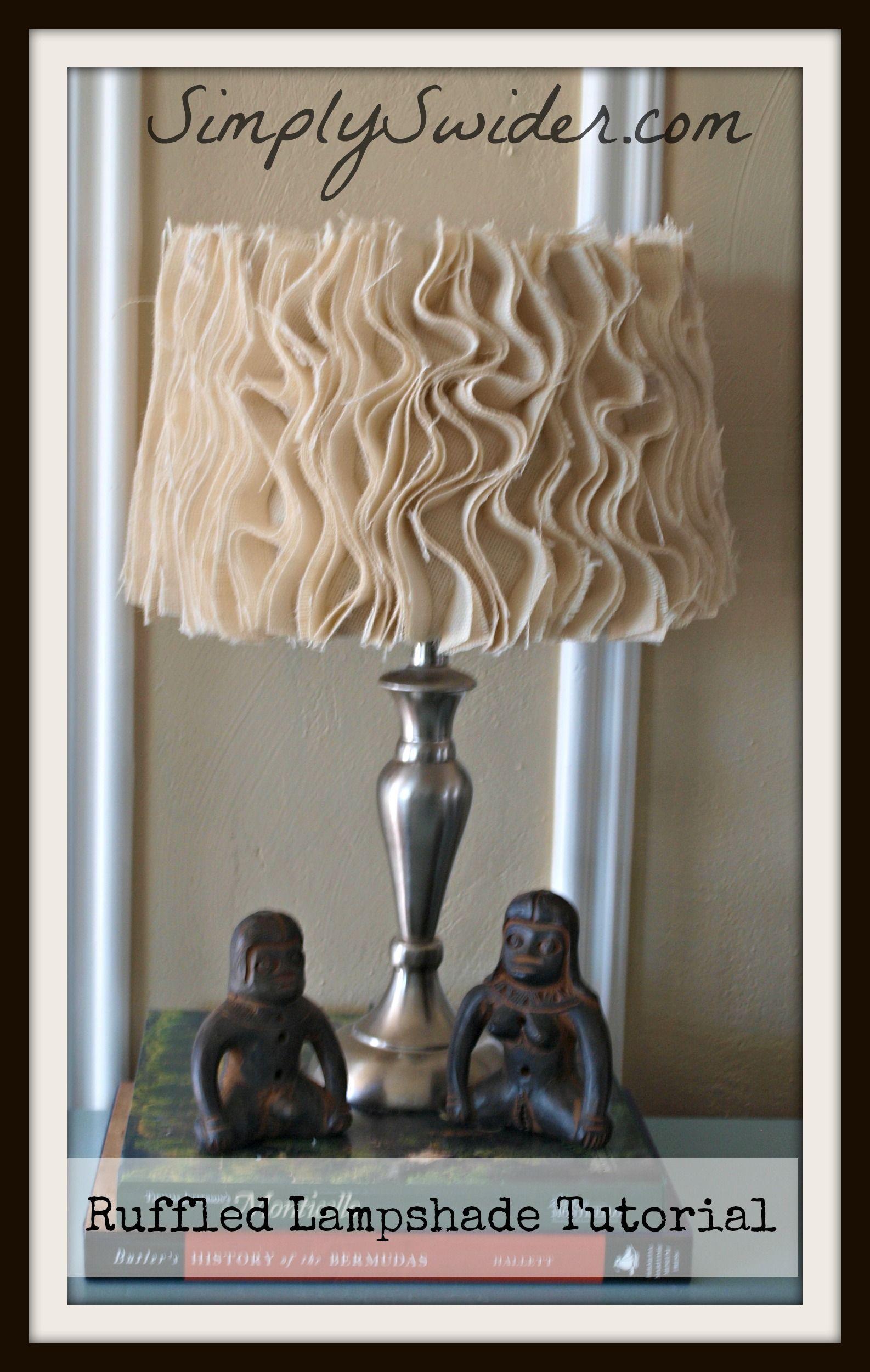 Ruffled Lamp Shade Tutorial Simply Swider Ruffle Lamp Shades Home Decor Accessories Diy Lamp Shade