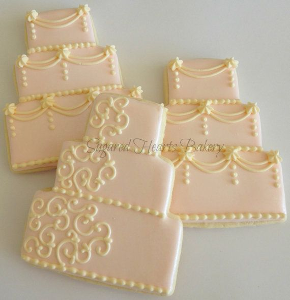 iced wedding cake cookies reserved listing for whitelillydesigns cookie decor 16245