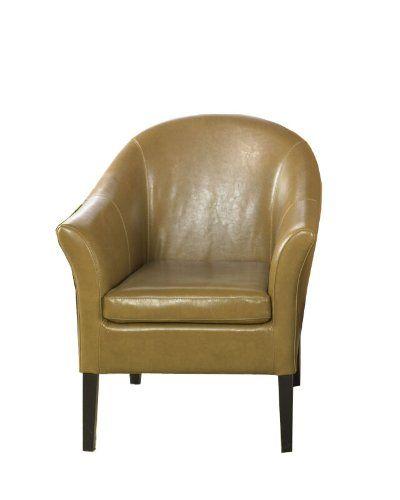 Phenomenal Armen Living 1404 Bicast Leather Aka Club Chair Camel Machost Co Dining Chair Design Ideas Machostcouk