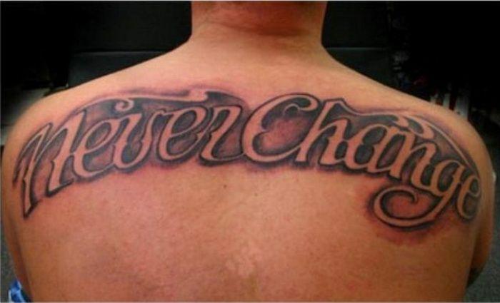 Cool Upper Back Tattoos Cursive Tattoo Fonts On Upper Back