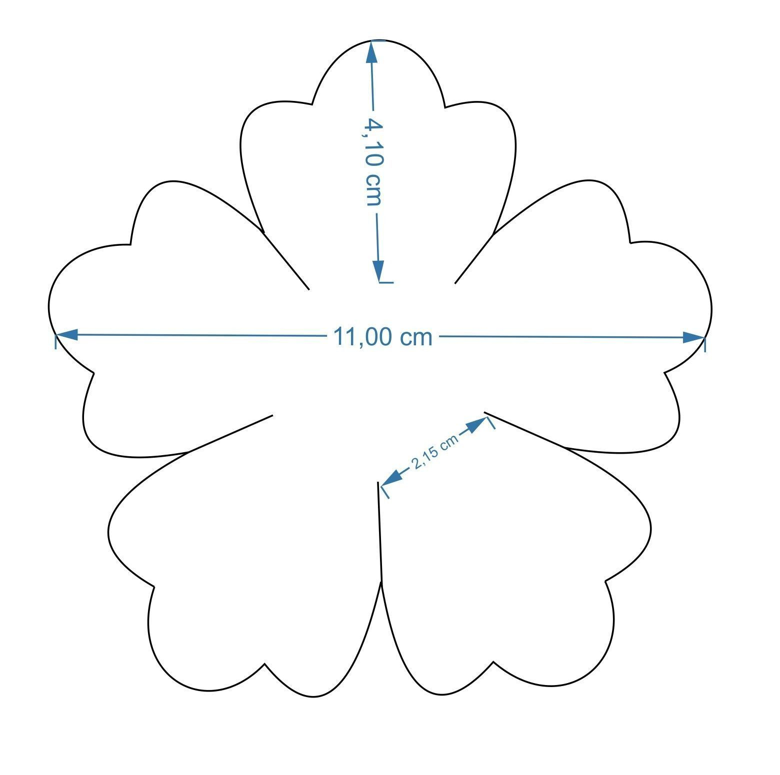29+ Template for 5 petal flower trends