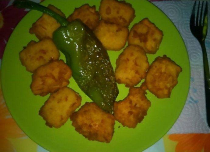 Croquetas de salmorejo para #Mycook http://www.mycook.es/cocina/receta/croquetas-de-salmorejo