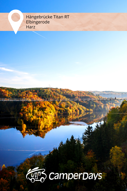 Unsere Sehenswurdigkeit Des Tages Hangebrucke Im Harz In 2020 Urlaub Im Herbst Reiseziele Urlaub