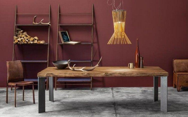 L'utilisation de matériaux naturels en tant qu'élément de l'intérieur contemporain est devenue une tendance et c'est le mobilier bois massif qui est sous le