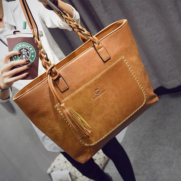 a1aea7700ae6 Weimeibaige Oversized Leather Tote - Grab