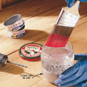 Diy Tip Of The Day Paint Thinner Extender Get More Life From Your Paint Thinner With This Brush Cleaning Tip Drill 3 1 Diy Handyman Painting Tips Clever Diy