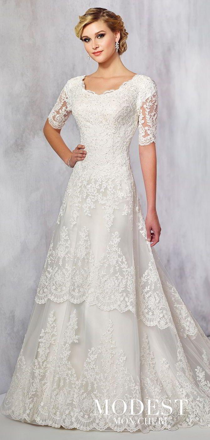 Modest by Mon Cheri Fall 2017 Wedding Dresses Wedding