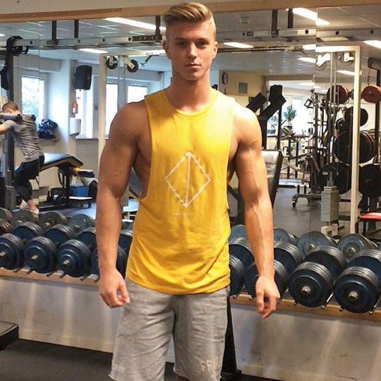 T shirt tank muscle men gym pecs arms shoulders sexy for Buff dudes t shirt