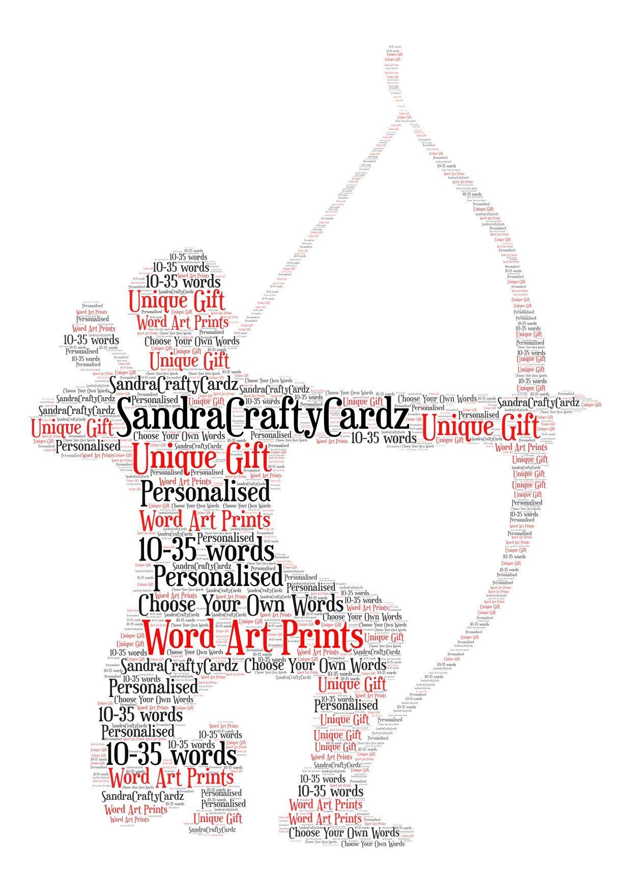 Shooting  Personalised A4 Word Art Print