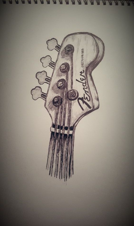 Must Learn To Draw Inspiration With Images Guitar Drawing