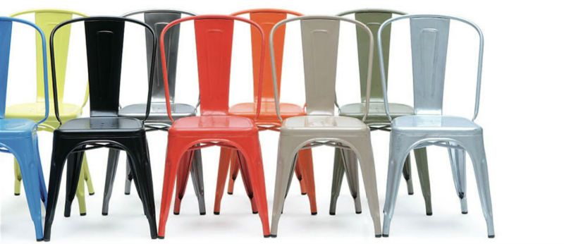 Metal Colored Chairs Google Search Metal Dining Chairs Tolix Chair Dining Chairs