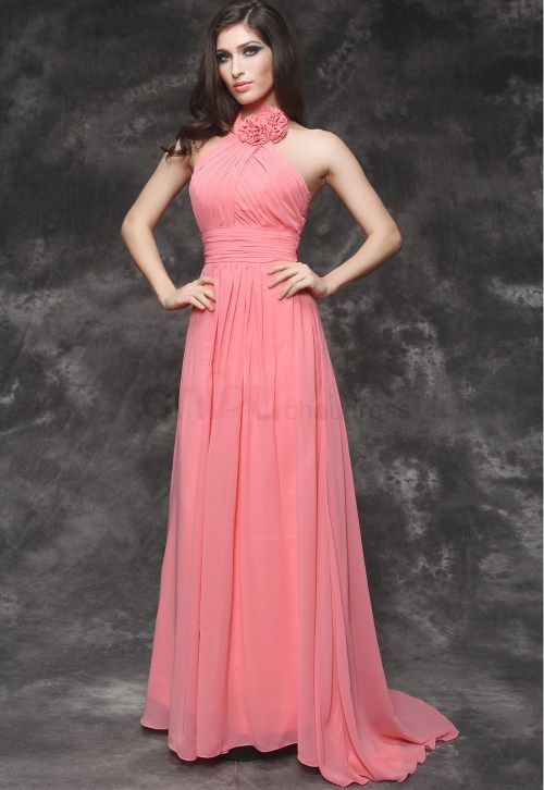 Simple Evening Gowns | Line Ruffle Floor-Length Decorated With ...