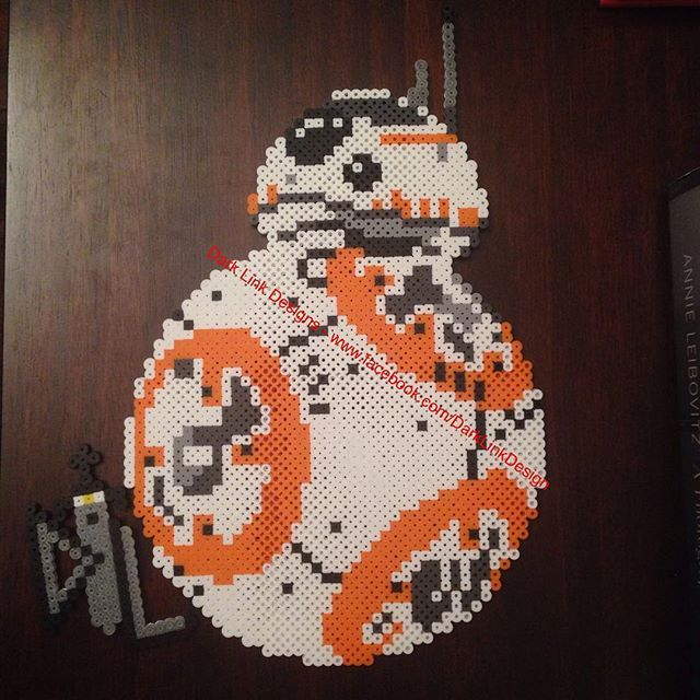 R2d2 And Bb 8 Star Wars Perler Beads By Bas Jongsma Perlenmuster