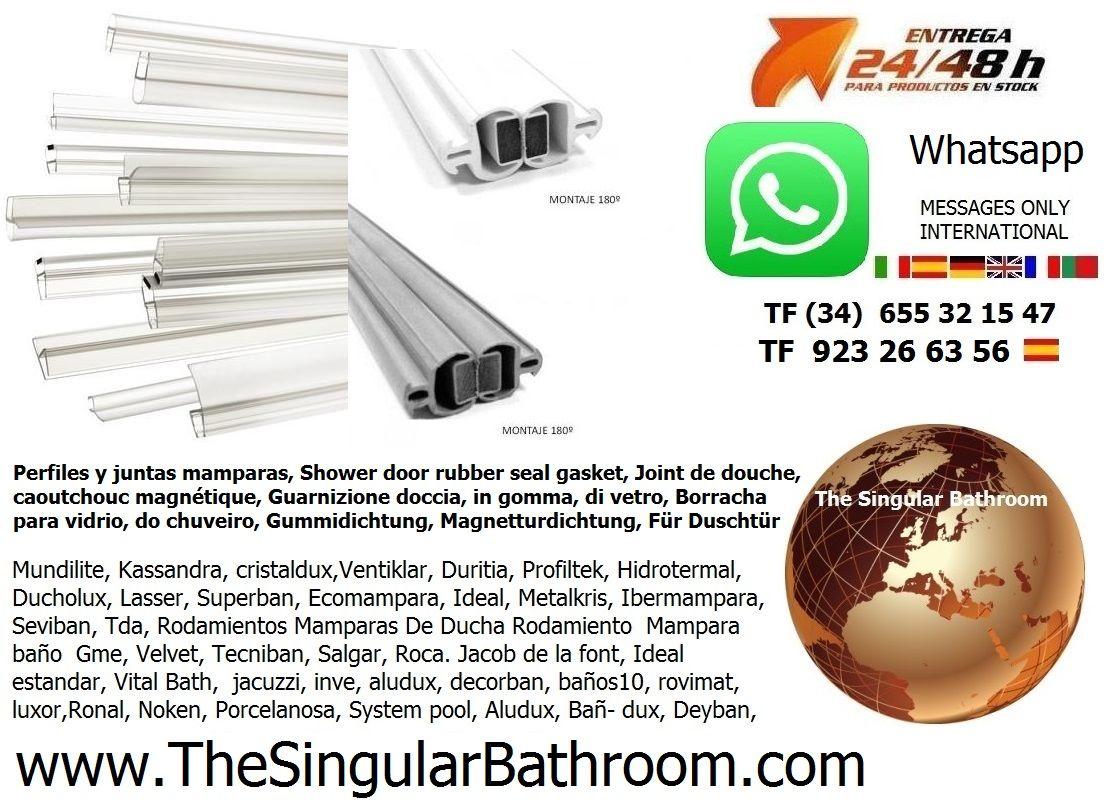 Pin De The Singular Bathroom En Juntas Mamparas Ducha Ba O  ~ Rodamientos De Mamparas De Ducha