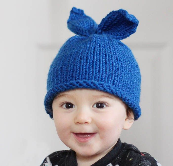Baby Girl Bunny Ear Hat Knitting Pattern | Baby bunnies, Knitting ...