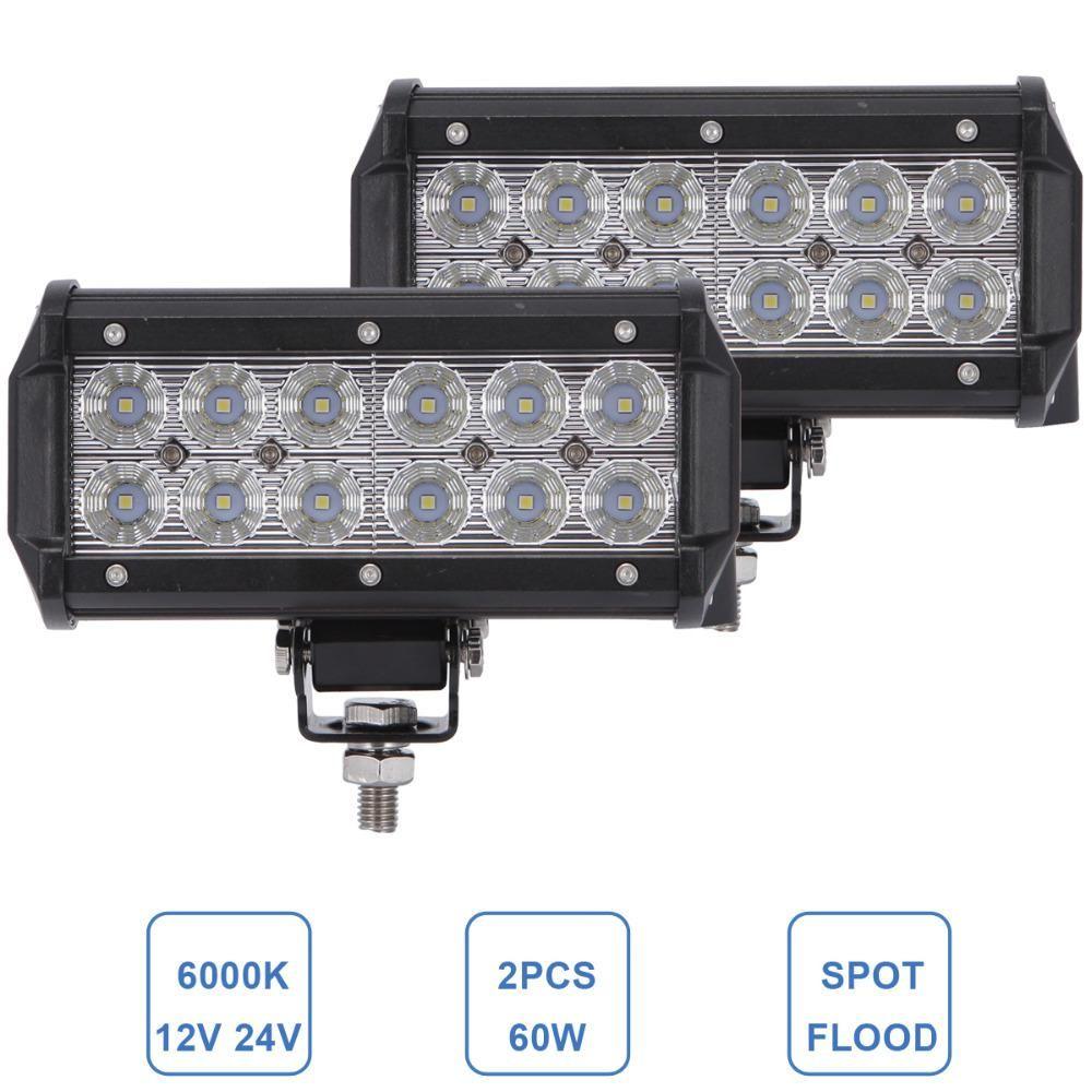 12V 24V 36W LED Work Light Spot Beam Lamp 4WD Jeep SUV ATV Truck 4x4