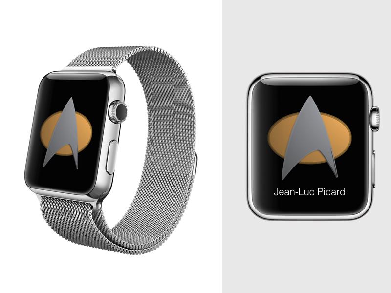 Apple Watch App Concept Star Trek Tng Communicator Apfeluhr Und Apfel