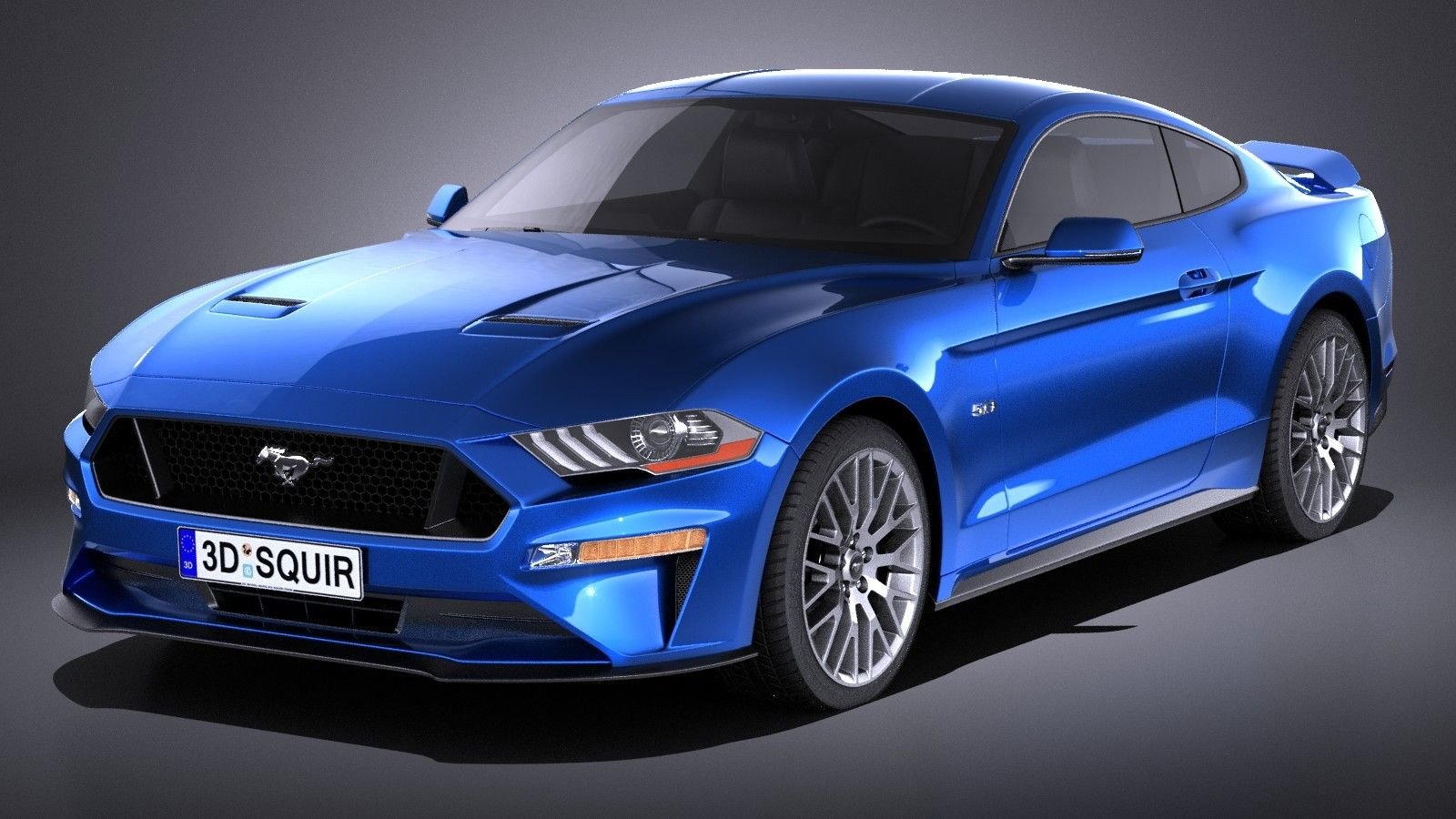 3d Model Mustang 2018 Ford Mustang Gt Mustang Gt Muscle Cars