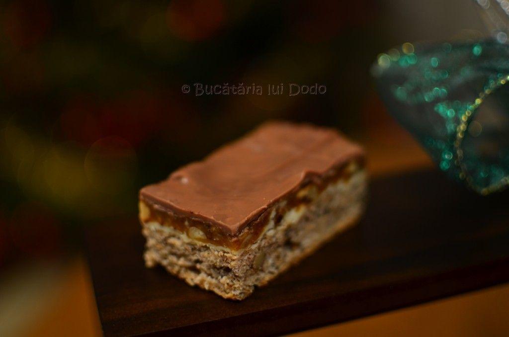 Prăjitura Snickers | Bucataria lui Dodo