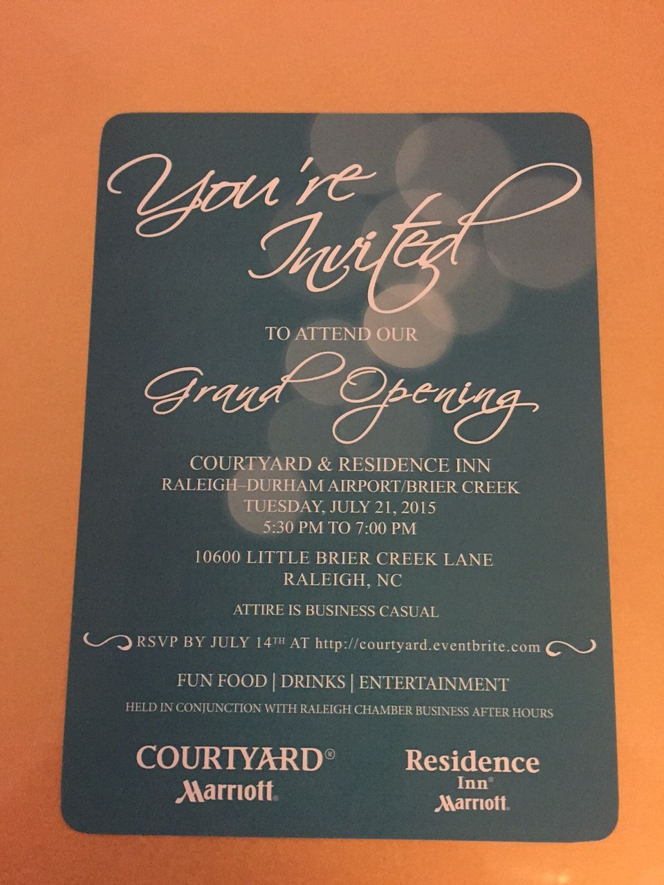 elegant invitation card design for a hotel grand opening