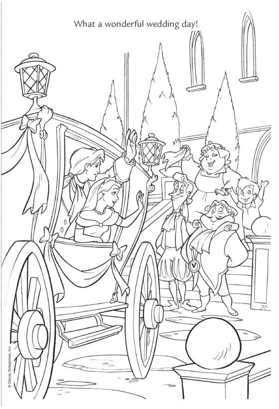 disney wedding coloring pages - photo#31