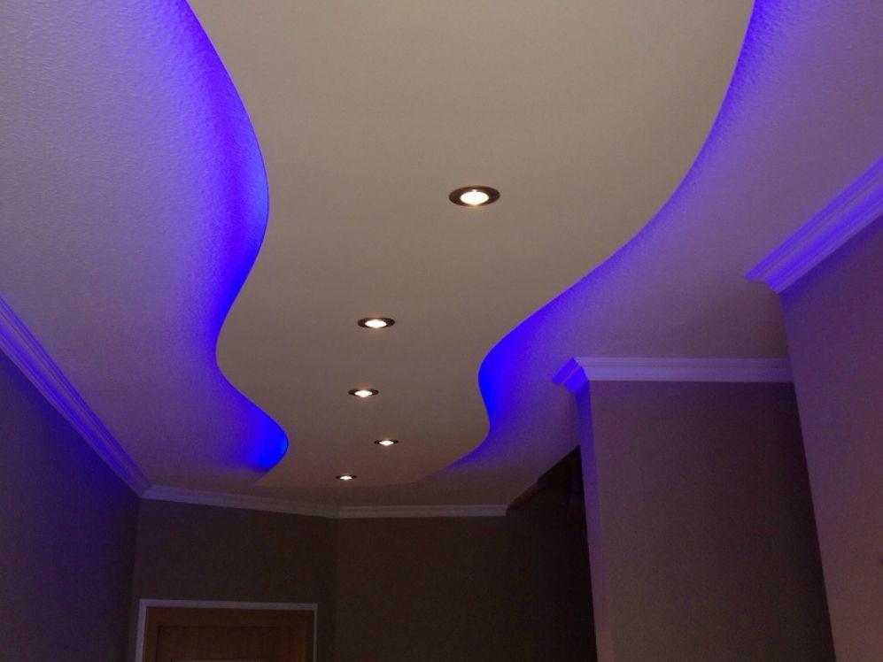 ✅Indirekte Beleuchtung Mit LED Im Deckenlichtsegel Von Lisego. ✅Stellen Sie  Ihr Deckensegel Auf Ihre Wunschfarbe Ein Mit RGB LED