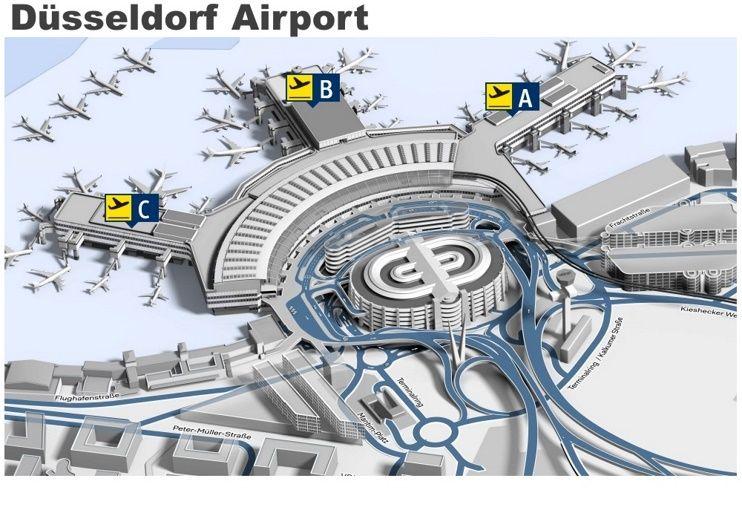 Dsseldorf airport map Maps Pinterest City