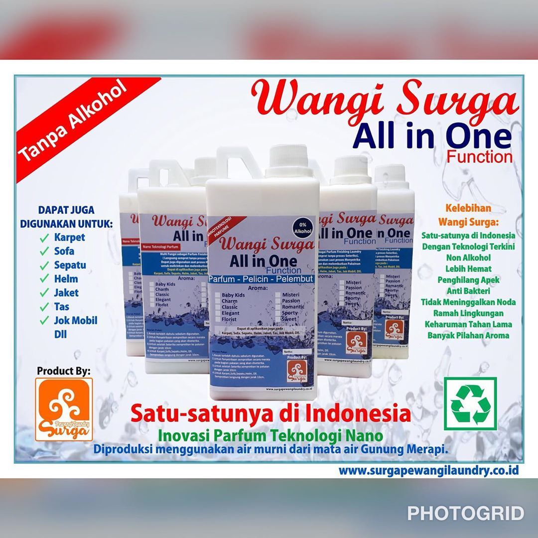 Surga Pewangi Laundry On Instagram Produk Wangi Surga All In One