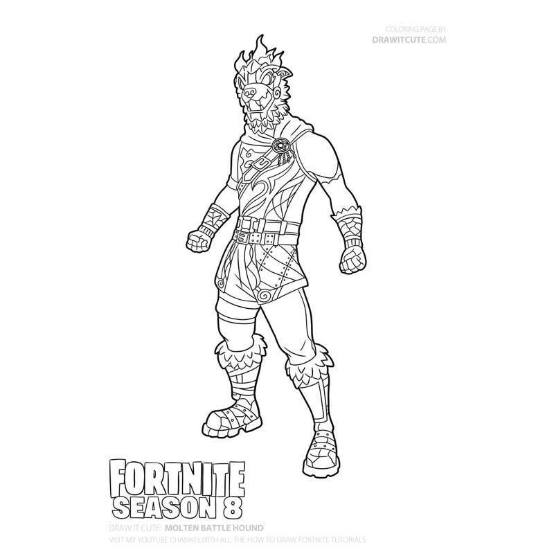 Valkyrie Ragnarok Fortnite Skin Coloring Pages