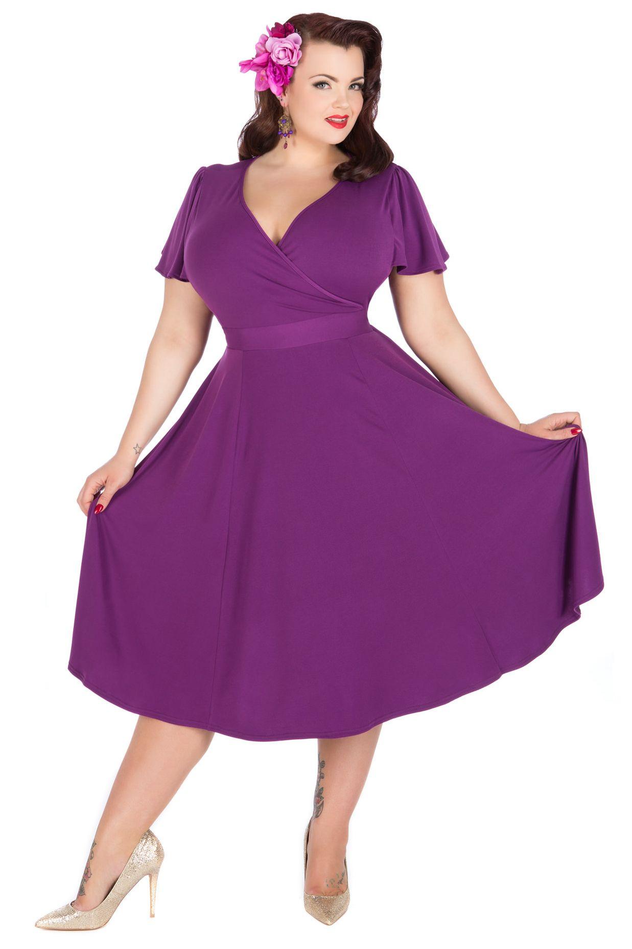 Lyra Dress - Purple | Vestido para gorditas, Gordita y Vestiditos