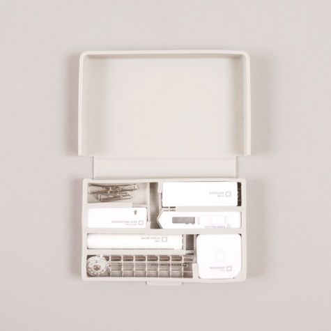 STATIONERY KIT FROM EXPERT JAPANESE STATIONERS MIDORI. EASILY PORTABLE, THIS POCKET SIZED KIT IS PERFECT FOR THOSE ON THE GO WHO NEED THEIR STATIONARY ESSENTIALS CLOSE BY.