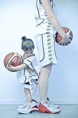 Mom and daughter. I think that would be so awesome to have. Basketball  loving girls in my life. SG e6a4fb36e787a