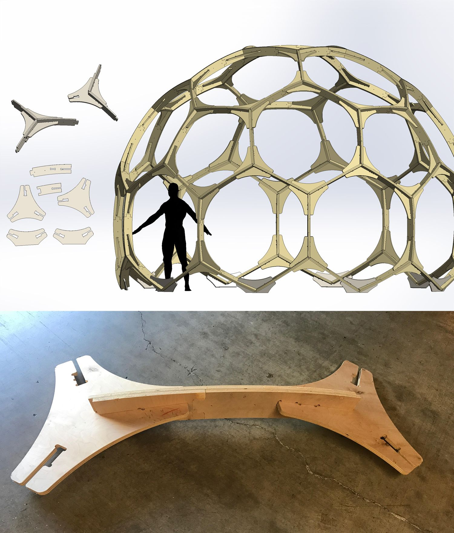 Steel Dome Homes: Geodesic Hex Dome CNC Plywood Modular Pattern