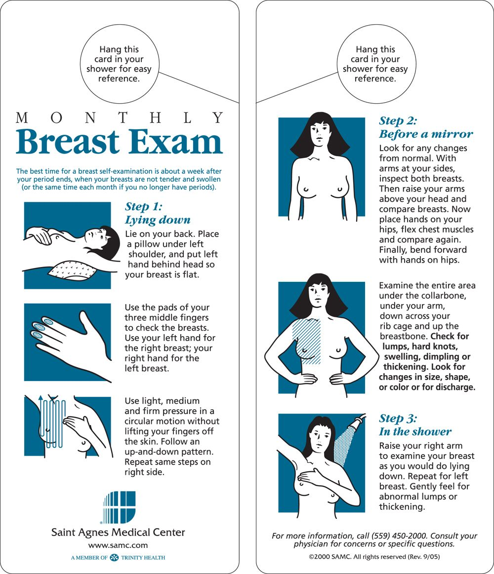breast examination Learn how to perform a self breast-exam, when and if it is recommended, its effectiveness, and if it is the best way to detect breast cancer.