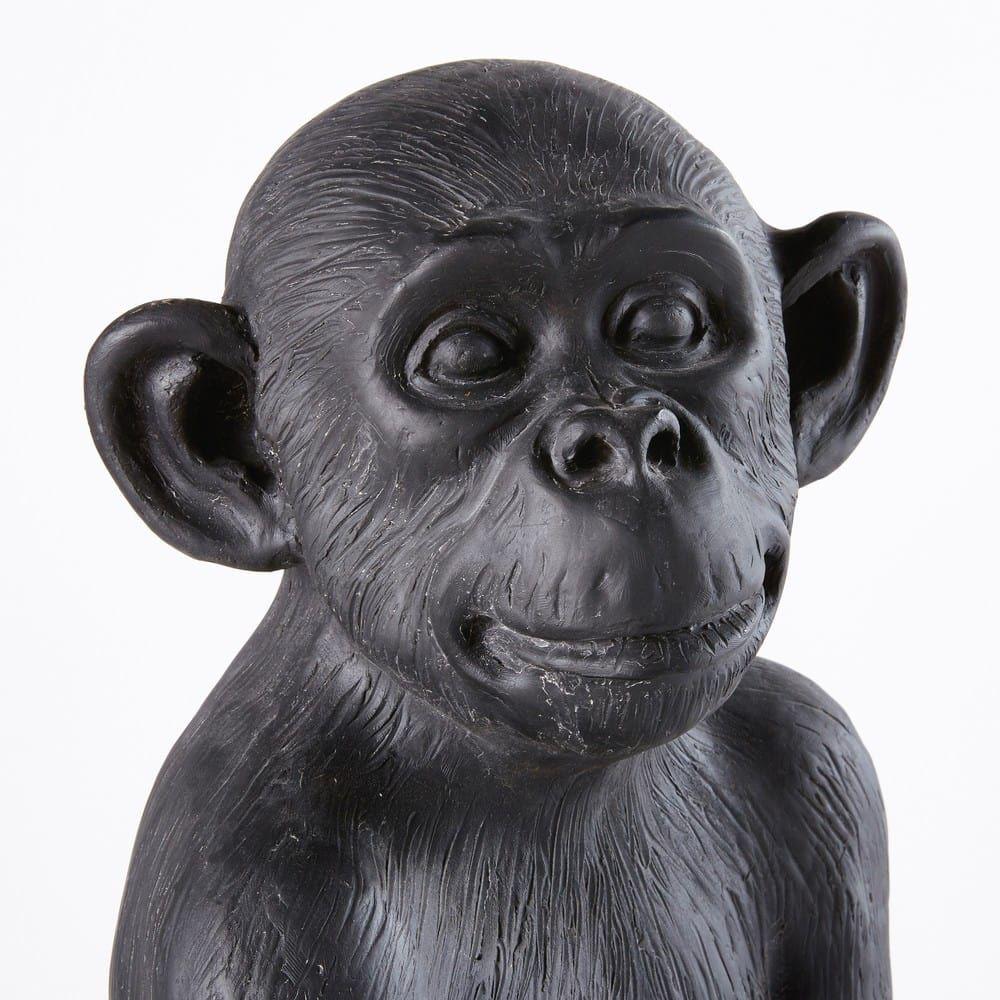 Gartendeko Affe Aus Schwarzem Kunstharz H56 In 2020 Affen