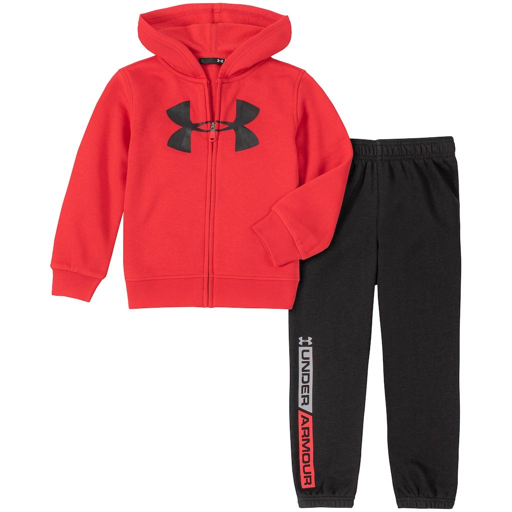 Under Armour Little Boys Logo Zip Hoodie /& Jogger Pants Set