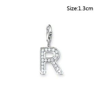 Awesome Silver Plated Letter R Shaped Lobster Clasp Charms--Cheap Wholesale
