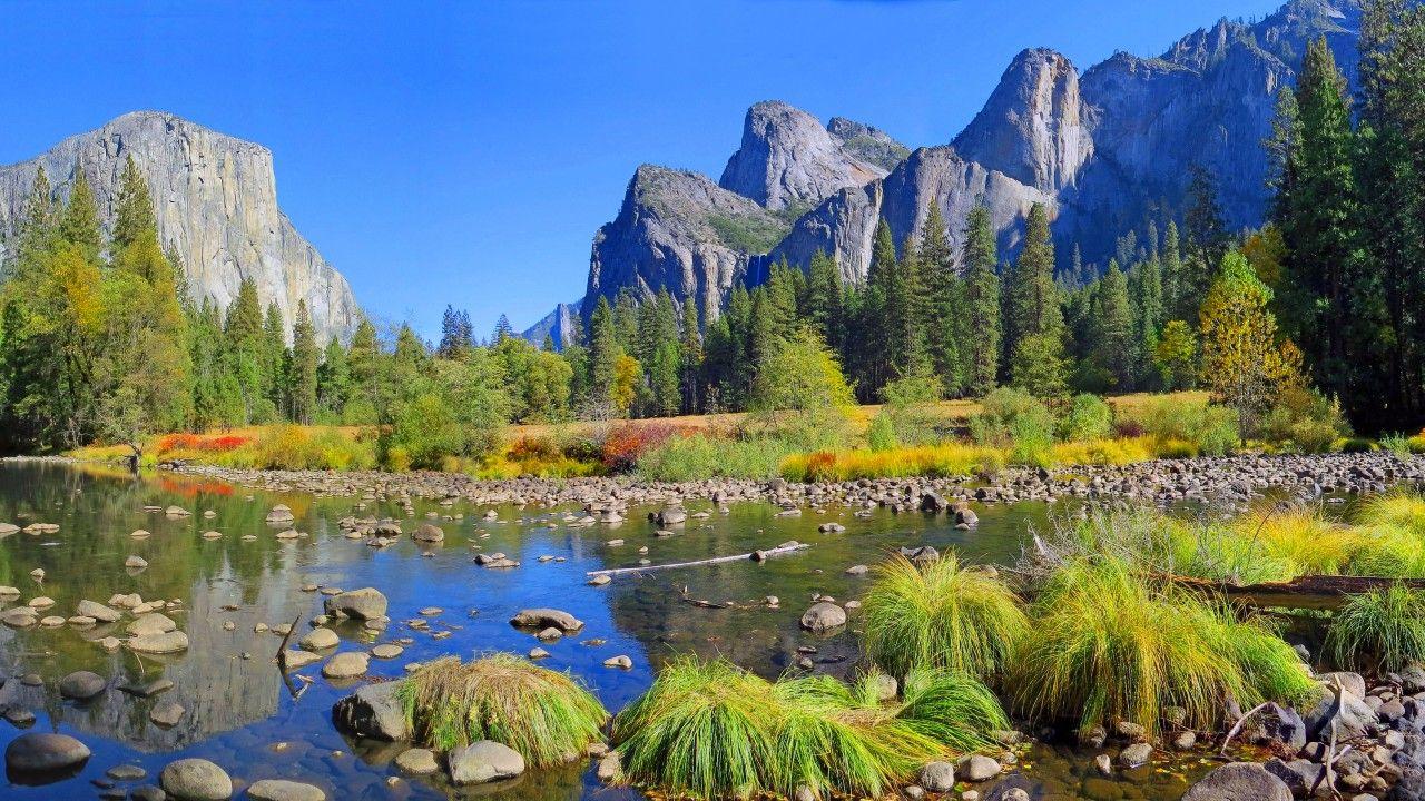 Yosemite, 5k, 4k wallpaper, 8k, forest, OSX, apple, mountains (horizontal)   Mountains ...