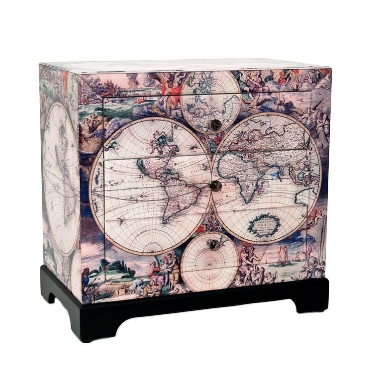 World Map Chest of Drawers | Living Room in 2019 | Map ...