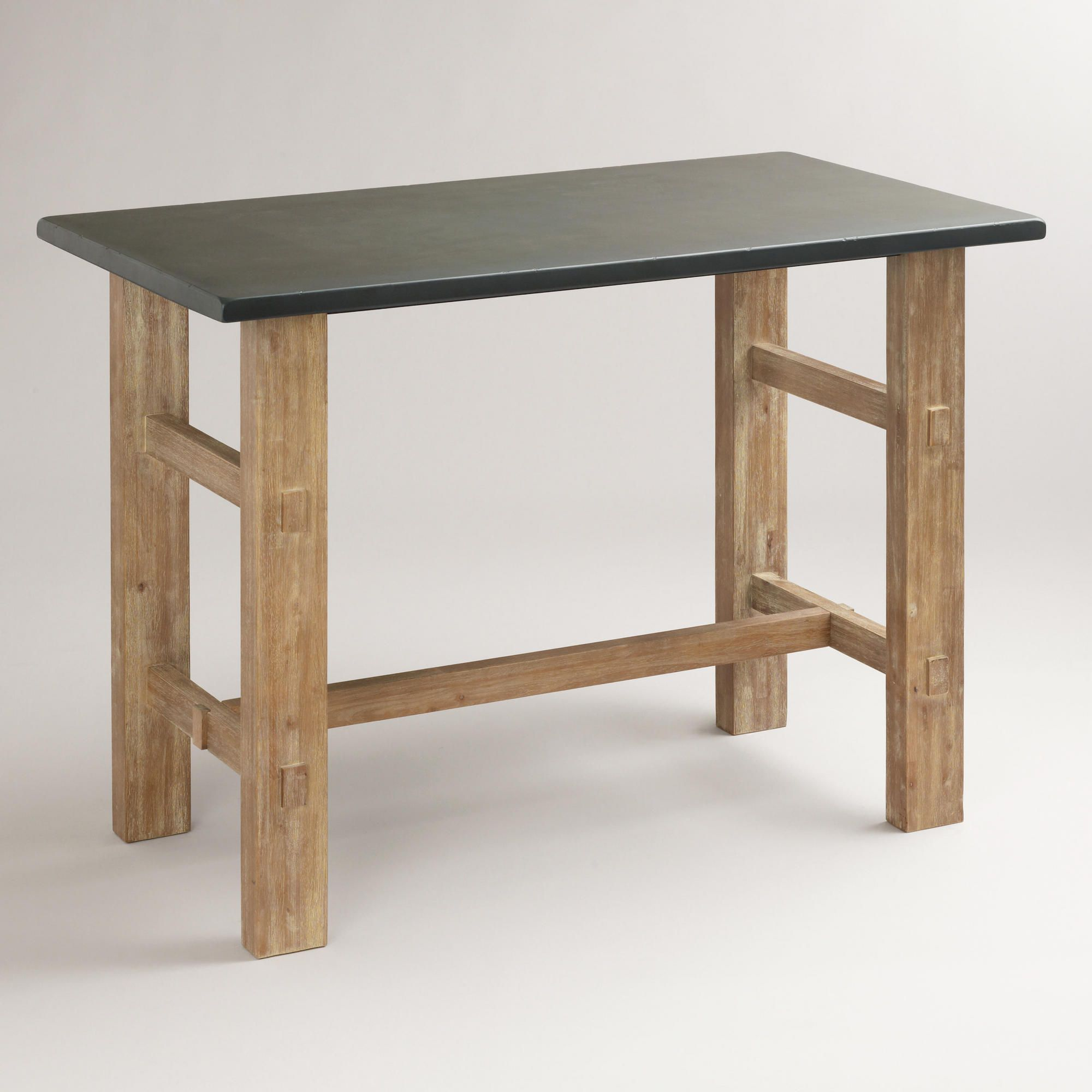 Captivating Brooklyn Work Table, World Market. 47.25W X 27D X 35.75H. $349 With A  Soapstone Top.