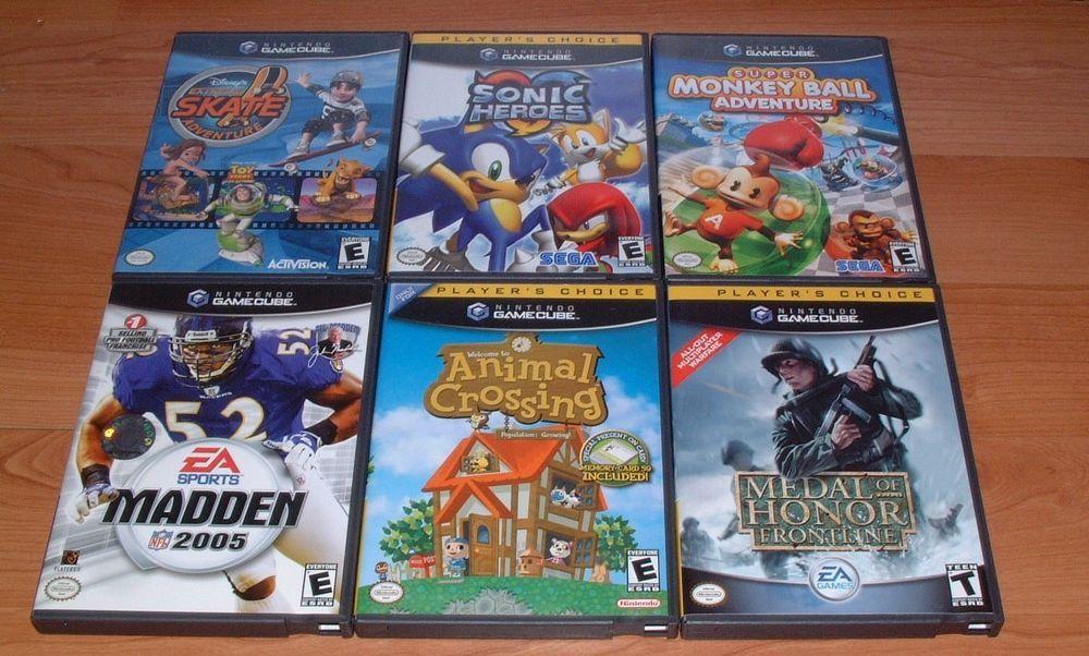 Nintendo Gamecube Game Lot of 6 Animal Crossing Monkey